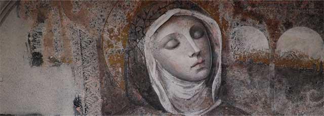 Amici Santa Veronica Giuliani, figli di Maria - Napoli: affresco raffigurante la Santa