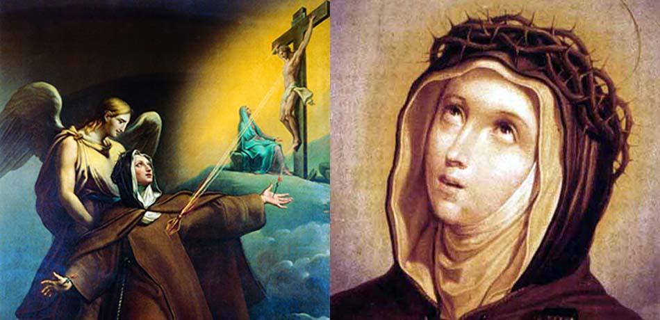 Amici Santa Veronica Giuliani, figli di Maria - Napoli: dipinti raffiguranti la Santa