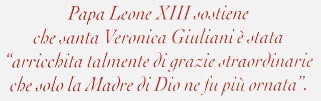 Le parole di Papa Leone XIII su Santa Veronica Giuliani