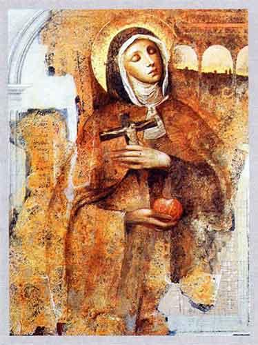 dipinto di Santa Veronica Giuliani