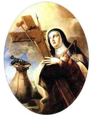 Santa Veronica abbraccia i segni della Passione
